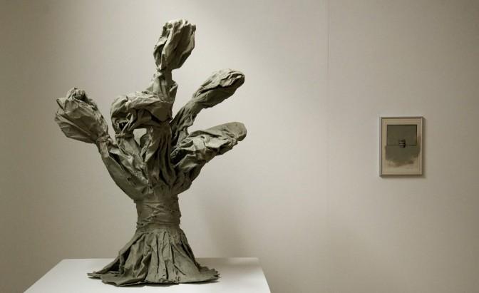 Eckhard Kremers 2013 Bouquet VI Papier in Ausstellung (Ludwig Museum Koblenz) [bouquet vi paper in exhibition]