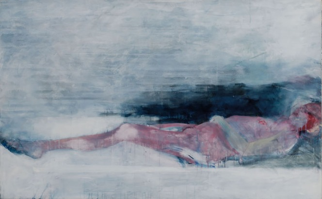 Eckhard Kremers 1987 Schlaf [sleep] 105x167cm