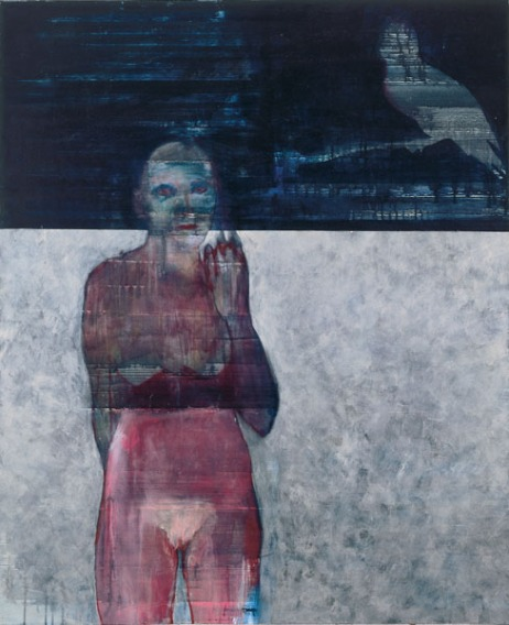 Eckhard Kremers 1988 Schlecht geträumt [had a bad dream] 130x106cm