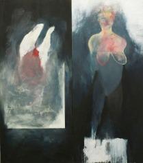 Eckhard Kremers 1989 ...vom Fleisch [...of flesh] 168x148cm