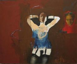 Eckhard Kremers 1996 Tod und Mädchen [death and girl] 109x130cm