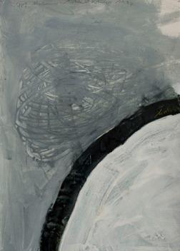 Eckhard Kremers 1997 Kopf Alzheimer [head alzheimer] 51x36cm
