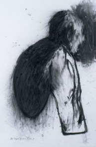 Eckhard Kremers 1997 ...vom vergessen für Akira Ueda 3 [...of oblivion for Akira Ueda 3] 70x100cm