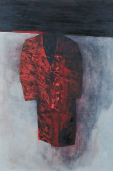 Eckhard Kremers 1998 Roter [red coat] 180x120cm