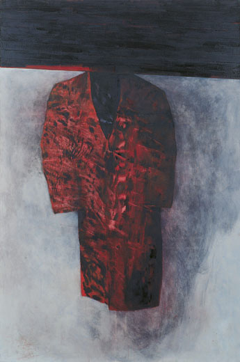 Eckhard Kremers 1998 Roter [red coat] 180x120cm