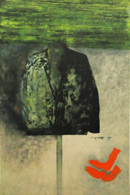 Eckhard Kremers 1999 Grünes [green jacket] 180x120cm