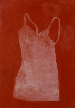 Eckhard Kremers 2000 Dessous avec rouge [lingerie with red] 100x70cm