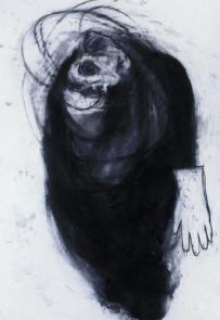 Eckhard Kremers 2000 ...vom Vergessen Kokon [...of oblivion cocoon] 100x72cm
