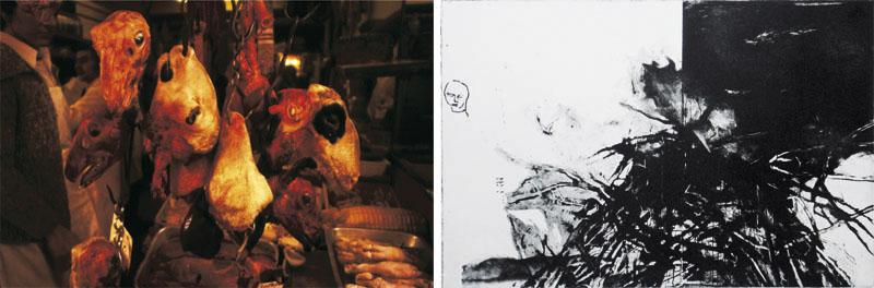 Eckhard Kremers 2001 Purgatorium I Ein Reisetagebuch Dijon [purgatory i a travel diary dijon] 60x100cm