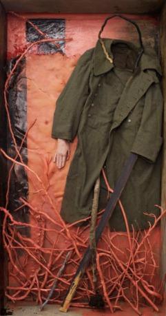 Eckhard Kremers 2008 Soldat und Mädchen [soldier and girl] 188x102x25cm
