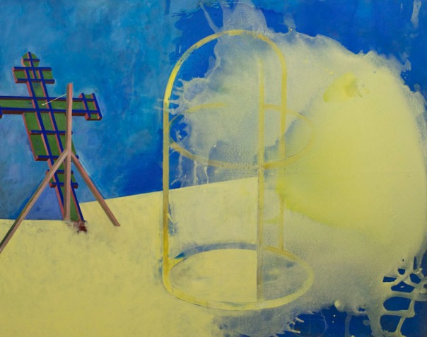 Eckhard Kremers 2009 Licht im Quadrat zur Entfernung [light squared distance] 120x150cm