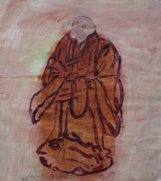 Eckhard Kremers 2009 Monk called Saru 27x23cm
