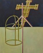 Eckhard Kremers 2010 Croce II (nach Giotto) [cross ii (after giotto)] 150x120cm