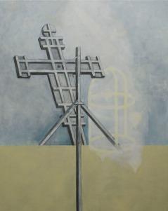Eckhard Kremers 2010 Croce III (nach Giotto) [cross iii (after giotto)] 150x120cm