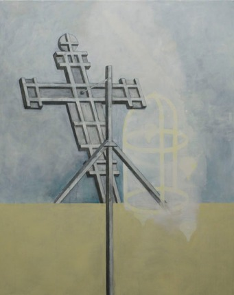 Eckhard Kremers 2010 Croce III (nach Giotto) [cross iii (after giotto)] 150x120cm