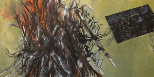 Eckhard Kremers 2010 Fra Girolamo Brand [fra girolamo fire] 120x240cm