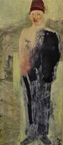 Eckhard Kremers 2010 Frammento con giallo medievale 170x74cm
