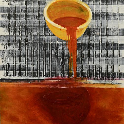 Eckhard Kremers 2010 ...wo Milch und Honig [...where the milk and honey] 120x120cm