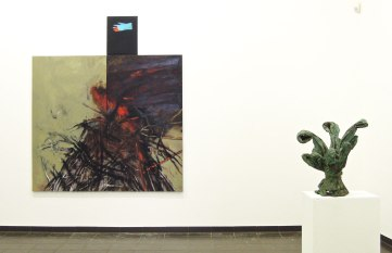 Eckhard Kremers 2014 Fra Gerolamo und Bouquet VII Ausstellung im Marburger Kunstverein [fra gerolamo and bouquet vii in exhibition]