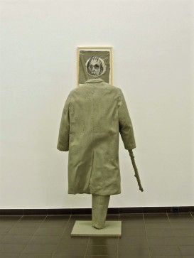 Eckhard Kremers 2014 Mantel Ausstellung im Marburger Kunstverein [coat exhibition]