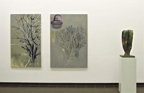 Eckhard Kremers 2014 Winter Hahnenkamm Petals Ausstellung im Marburger Kunstverein [winter cockscomb petals in exhibition]