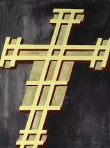 Eckhard Kremers 2010 Croce V (nach Giotto) [cross v (after giotto)] 100x70cm