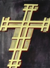 Eckhard Kremers 2010 Croce V (nach Giotto) [cross v (after giotto)] 100x70cm