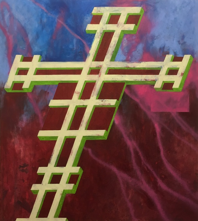 Eckhard Kremers 2017 Croce XII (nach Giotto) [cross xii (after giotto)] 190x170cm